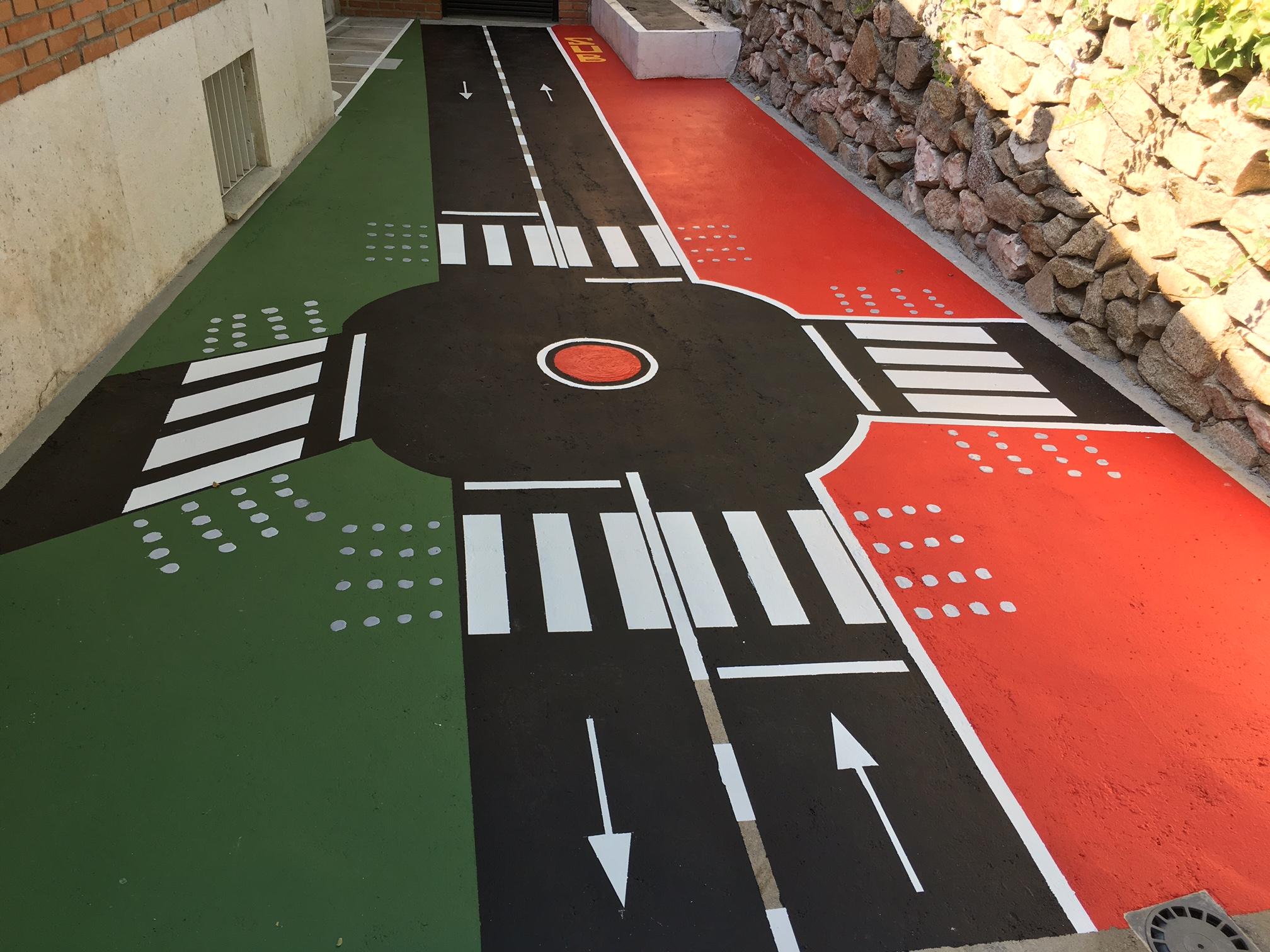 Señalización de parque vial en Madrid