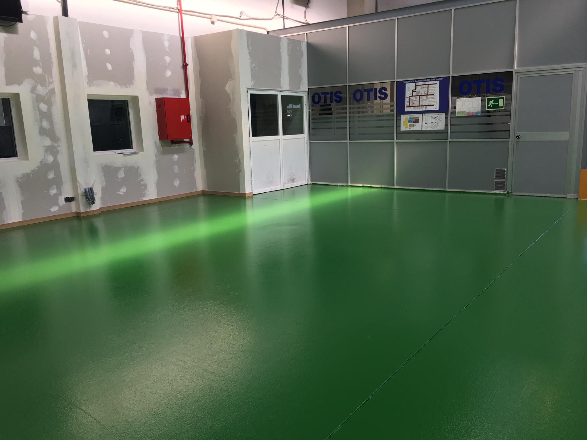 Pavimento de hormigón pulido para OTIS