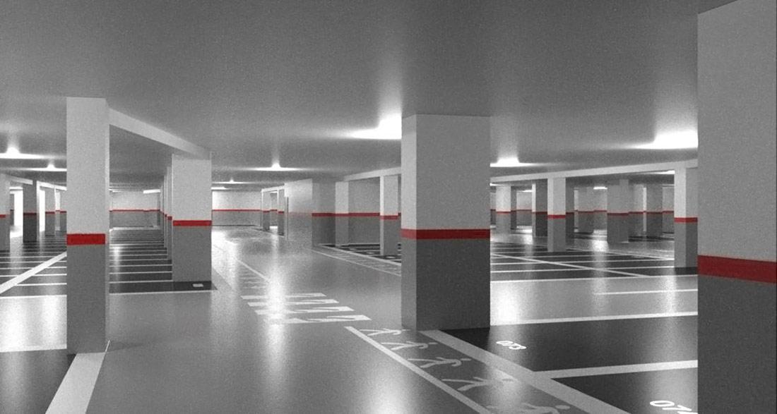 Diseño de señalización y seguridad en parking de Getafe